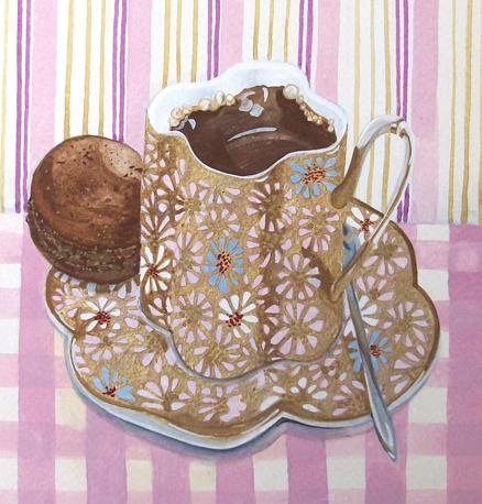 Coffee Macaron Giclee print