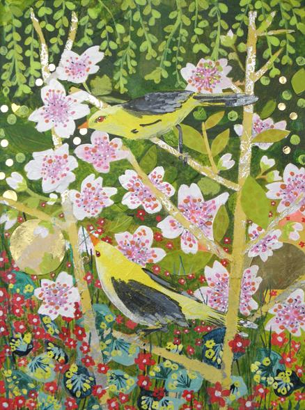 Blossom Birds: original painting