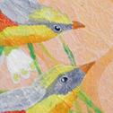 Close up detail of Marsh Wrens: original painting
