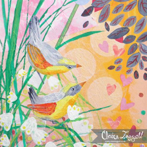Marsh Wrens: original painting