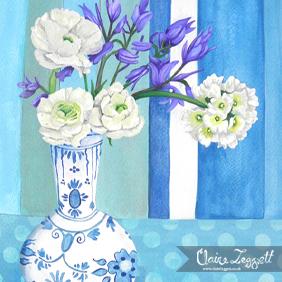 Ranunculus and Bluebells: original