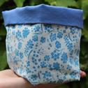 Close up detail of Blue Alyssum, Soft Storage Box