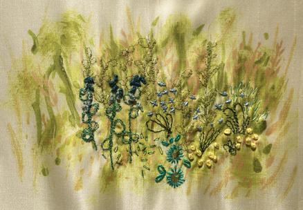 Four Seasons Stitchscape – blue