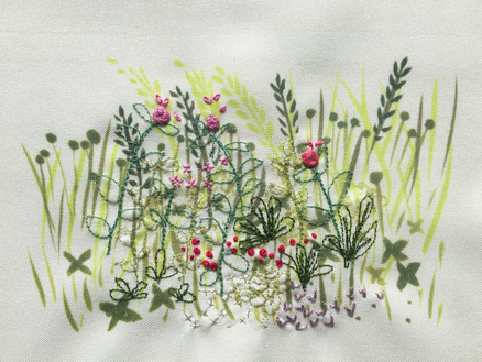 Four Seasons Stitchscape – pink