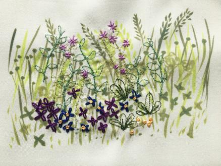 Four Seasons Stitchscape – purple
