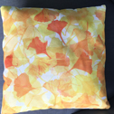 Close up detail of Gingko cushion
