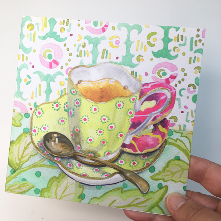 Ollie's Favourite Cup greetings card
