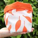 Close up detail of Orange Leaves, Soft Storage Box