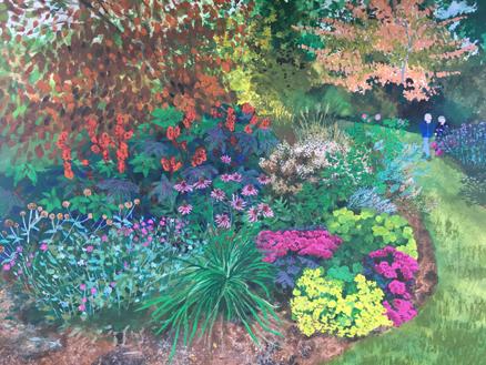 Autumn Border: original painting
