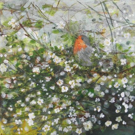 Robin: original painting