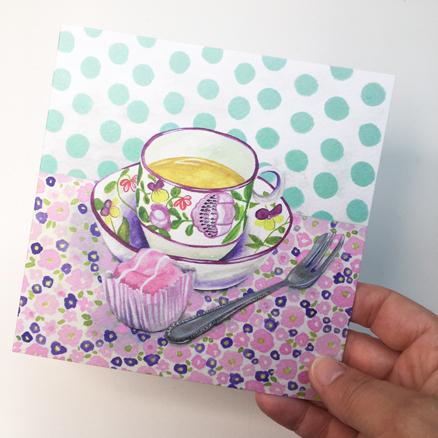 Teatime greetings card