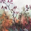 Close up detail of Texturescape: original painting
