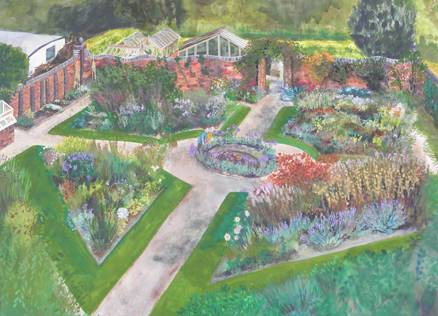 The Walled Garden: original painting