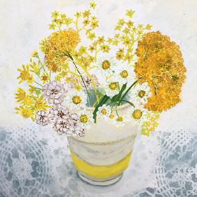 Close up detail of Yellow Pickings: original painting
