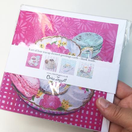Multi-pack of Teacup cards – 4 designs